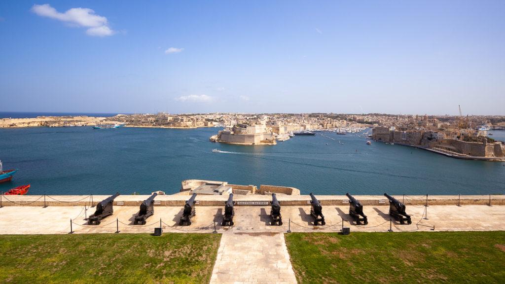 View from Valletta's Upper Barrakka Gardens, Malta