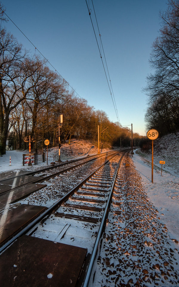 Snowy railways